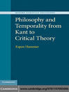 Philosophy and Temporality from Kant to Critical Theory (eBook)