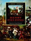 The Cambridge Companion to Henry Fielding (eBook)