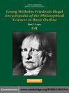 Georg Wilhelm Friedrich Hegel (eBook): Encyclopaedia of the Philosophical Sciences in Basic Outline