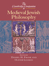 The Cambridge Companion to Medieval Jewish Philosophy (eBook)