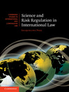 Science and Risk Regulation in International Law (eBook)