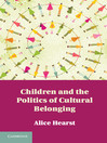 Children and the Politics of Cultural Belonging (eBook)