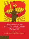 Constitutions in Authoritarian Regimes (eBook)