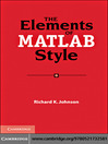 The Elements of MATLAB Style (eBook)