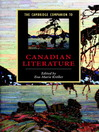 The Cambridge Companion to Canadian Literature (eBook)