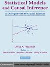 Statistical Models and Causal Inference (eBook): A Dialogue with the Social Sciences