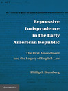 Repressive Jurisprudence in the Early American Republic (eBook): The First Amendment and the Legacy of English Law
