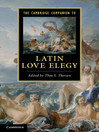 The Cambridge Companion to Latin Love Elegy (eBook)