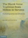 The Blank-Verse Tradition from Milton to Stevens (eBook)