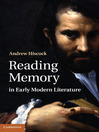 Reading Memory in Early Modern Literature (eBook)