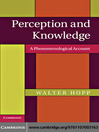 Perception and Knowledge (eBook): A Phenomenological Account