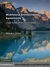 Multilateral Environmental Agreements (eBook): Legal Status of the Secretariats
