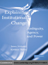 Explaining Institutional Change (eBook)