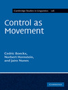 Control as Movement (eBook): Cambridge Studies in Linguistics Series, Book 126