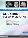 Principles and Practice of Geriatric Sleep Medicine (eBook)