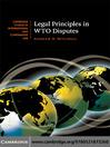 Legal Principles in WTO Disputes (eBook)