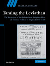 Taming the Leviathan (eBook): Ideas in Context Series, Book 82