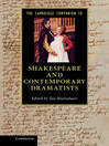 The Cambridge Companion to Shakespeare and Contemporary Dramatists (eBook)