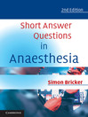 Short Answer Questions in Anaesthesia (eBook)