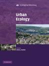 Urban Ecology (eBook)