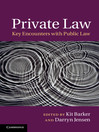 Private Law (eBook): Key Encounters with Public Law