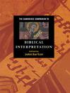 The Cambridge Companion to Biblical Interpretation (eBook)