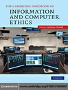 The Cambridge Handbook of Information and Computer Ethics (eBook)