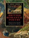 The Cambridge Companion to British Romantic Poetry (eBook)