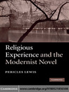 Religious Experience and the Modernist Novel (eBook)