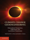 Climate Change Geoengineering (eBook)