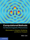 Computational Methods for Electromagnetic Phenomena (eBook)