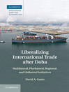 Liberalizing International Trade after Doha (eBook)