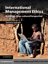 International Management Ethics (eBook)
