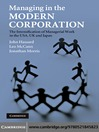 Managing in the Modern Corporation (eBook)