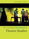 The Cambridge Introduction to Theatre Studies (eBook)