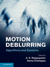 Motion Deblurring (eBook): Algorithms and Systems
