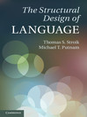 The Structural Design of Language (eBook)