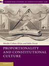 Proportionality and Constitutional Culture (eBook): Cambridge Studies in Constitutional Law Series, Book 7
