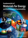 Fundamentals of Materials for Energy and Environmental Sustainability (eBook)