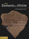The Elements of Hittite (eBook)