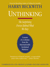 Unthinking (MP3): The Surprising Forces Behind What We Buy