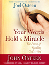 Your Words Hold a Miracle (MP3): The Power of Speaking God's Word