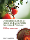 Decontamination of Fresh and Minimally Processed  Produce (eBook)
