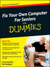 Fix Your Own Computer For Seniors For Dummies (eBook)