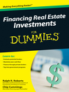 Financing Real Estate Investments For Dummies® (eBook)