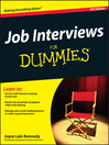 Job Interviews For Dummies (eBook)