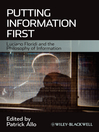 Putting Information First (eBook): Luciano Floridi and the Philosophy of Information