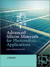 Advanced Silicon Materials for Photovoltaic Applications (eBook)