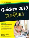 Quicken 2010 For Dummies (eBook)