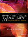 Human Resources Management for Public and Nonprofit Organizations (eBook): A Strategic Approach